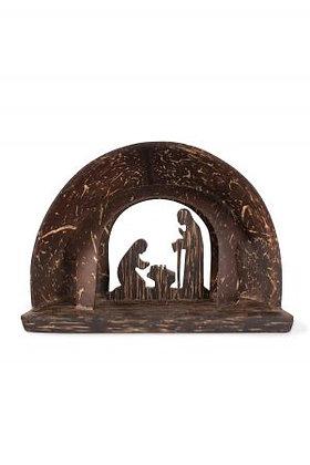 Coconut Shell Nativity