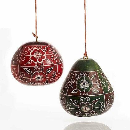SERRV Floral Motif Gourd Ornament