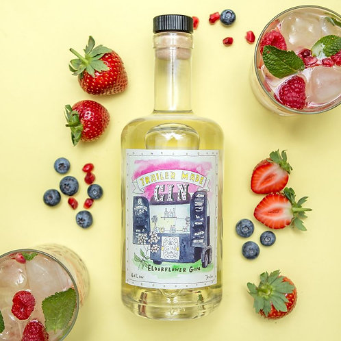 Trailer Made Elderflower Gin - 70cl Bottle