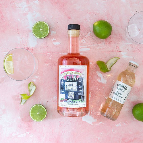 Trailer Made Rhubarb Gin with a Twist of Lime - 70cl Bottle