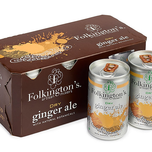 Folkingtons Fridge Pack Ginger Ale (8 x 150ml)