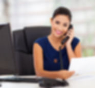 Desk Receptionist Answering Phone