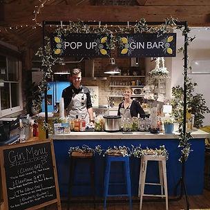 Pop up gin bar hire