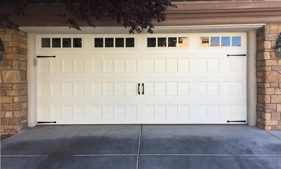 garae door with inted windows and hardare