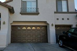Garage door windows house  front