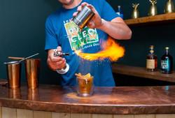 Flame cinnamon powder