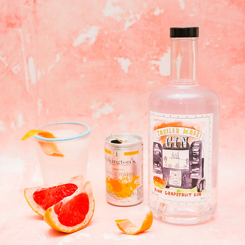 Trailer Made Pink Grapefruit Gin - 70cl Bottle