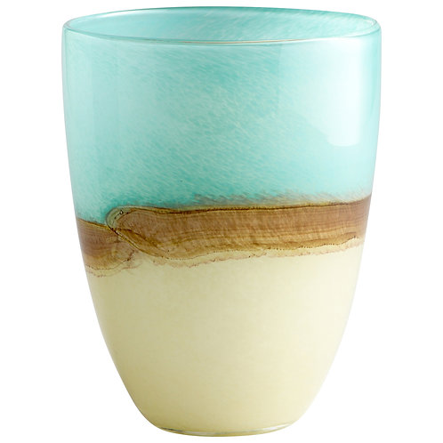 CD - Medium Turquoise Earth Vase
