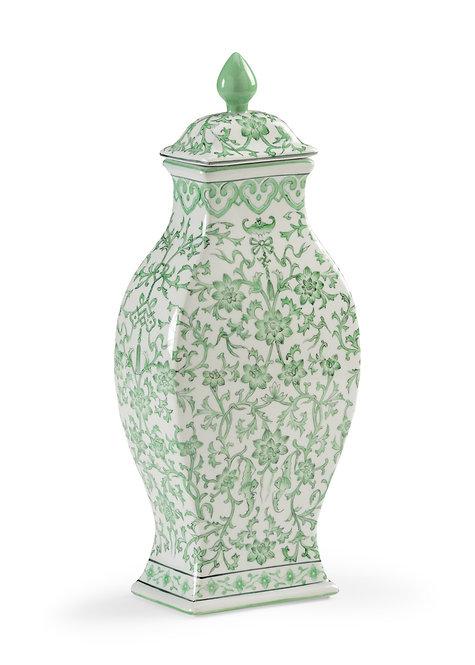Green Covered Urn