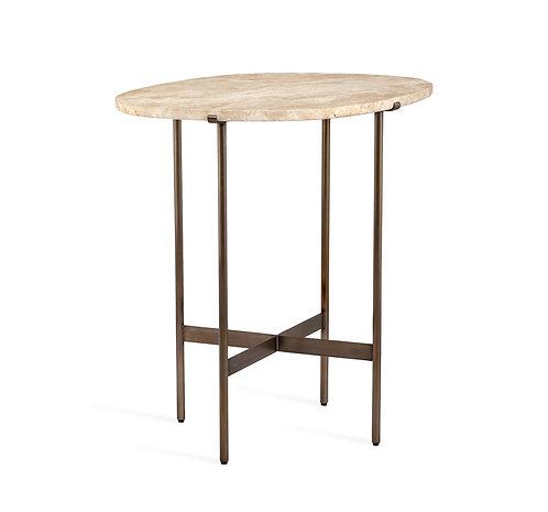 Arlington Lamp Table - Travertine