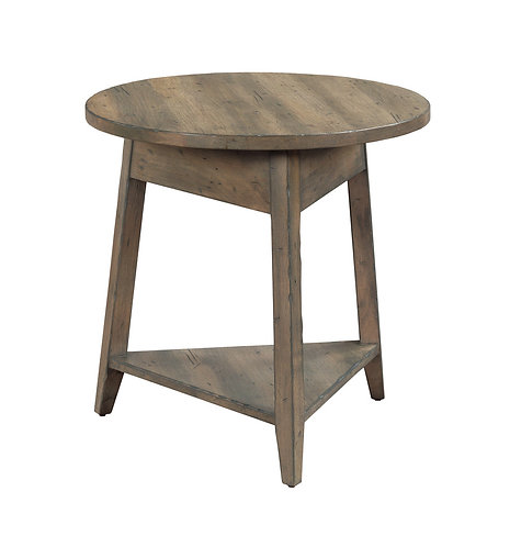 """24"""" BOWLER ROUND END TABLE"""