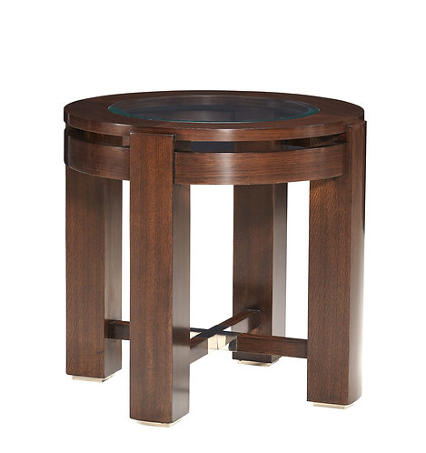 BROOKLINE ROUND END TABLE
