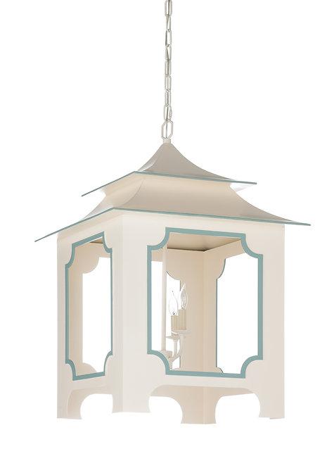 Tole Pagoda Lantern - Cream