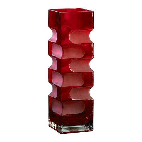 CD - Large Ruby Etched Vase