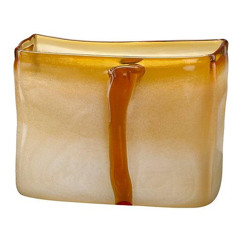 CD - Small Cream And Cognac Vase