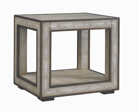 HAVEN END TABLE-SHAGREEN