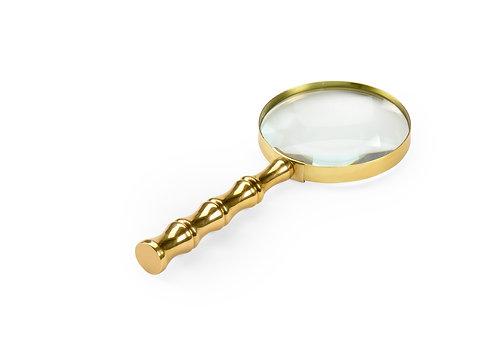 Bamboo Magnifier - Brass