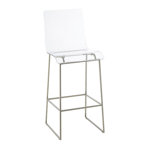 """King 30.25 Bar Height Stool - Silver"""""""