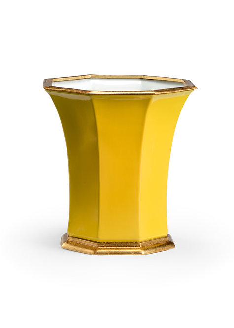 Buckingham Cachepot - Yellow