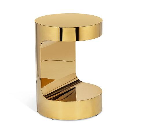 Dorset Round Hugging Table - Brass