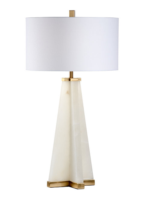 Alabaster Pyramid Lamp