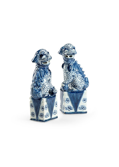 Blue And White Palace Dogs (P