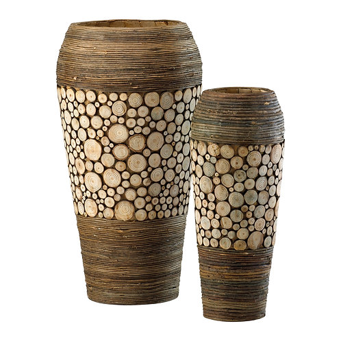 CD - Wood Slice Oblong Containers