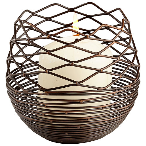 CD - Small Coiled Silk Candleholder