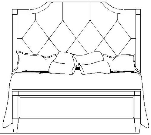 LORRAINE UPHOLSTERED BED HB 5/0
