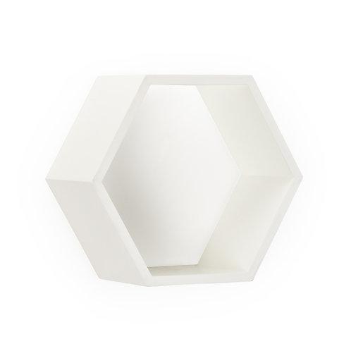 Honeycomb Wall Box - White