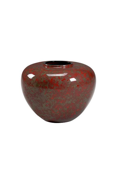Oval Jar - Red