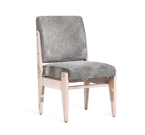Hale Hide Dining Chair - Whitewash