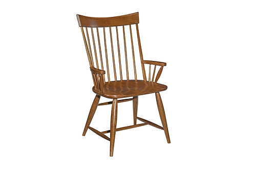 ARM CHAIR WOOD SEAT KD