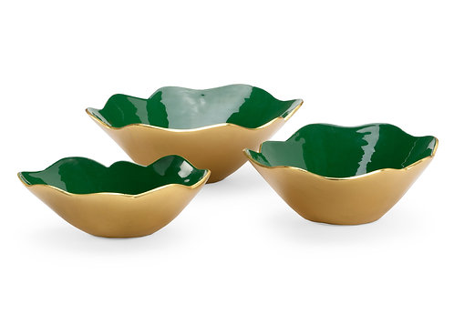 Emerald Enameled Bowls (S3)