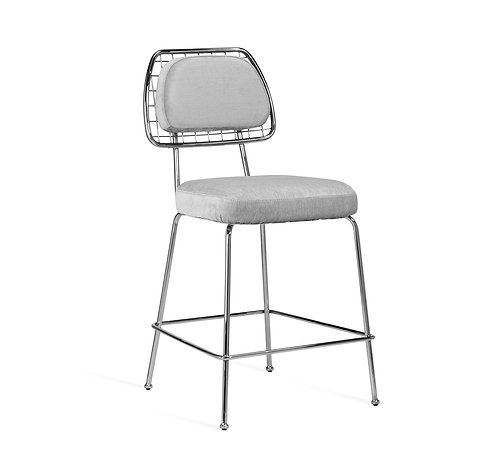 Milan Counter Stool - Ocean Grey