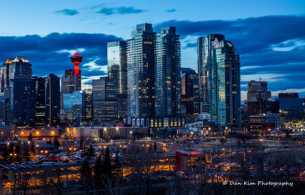 Calgary Downtown Landscape shot