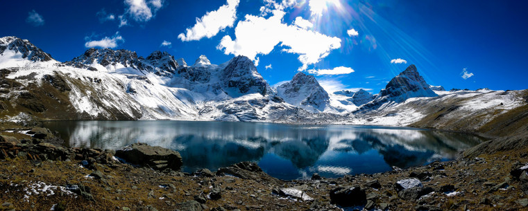 Condoriri Range in Bolivia