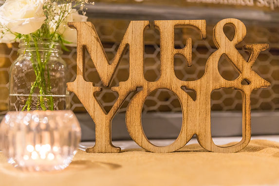 Me and you decor photo wedding
