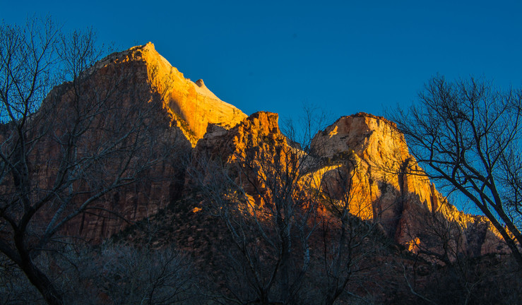 Zion National park at Sunrise