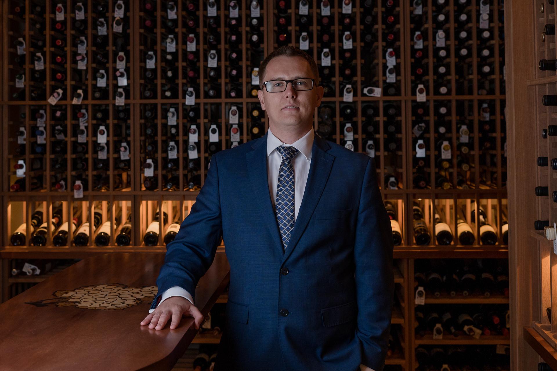 Corporate Headshot for Konstantin Kuligin, Wine Cellar