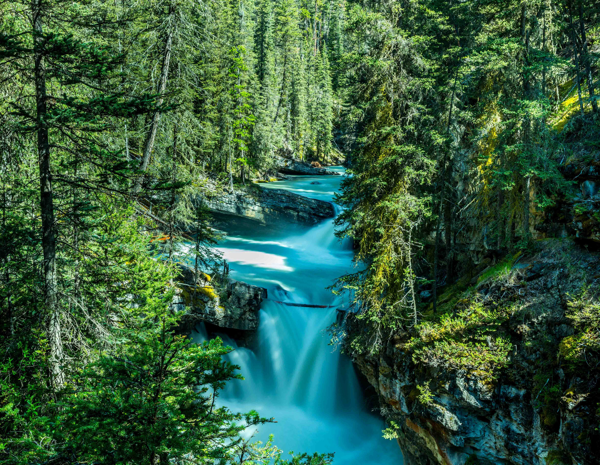 Calgary Landscape Photographer - Commercial prints - Johnston Canyon Alberta - Banff Waterfall