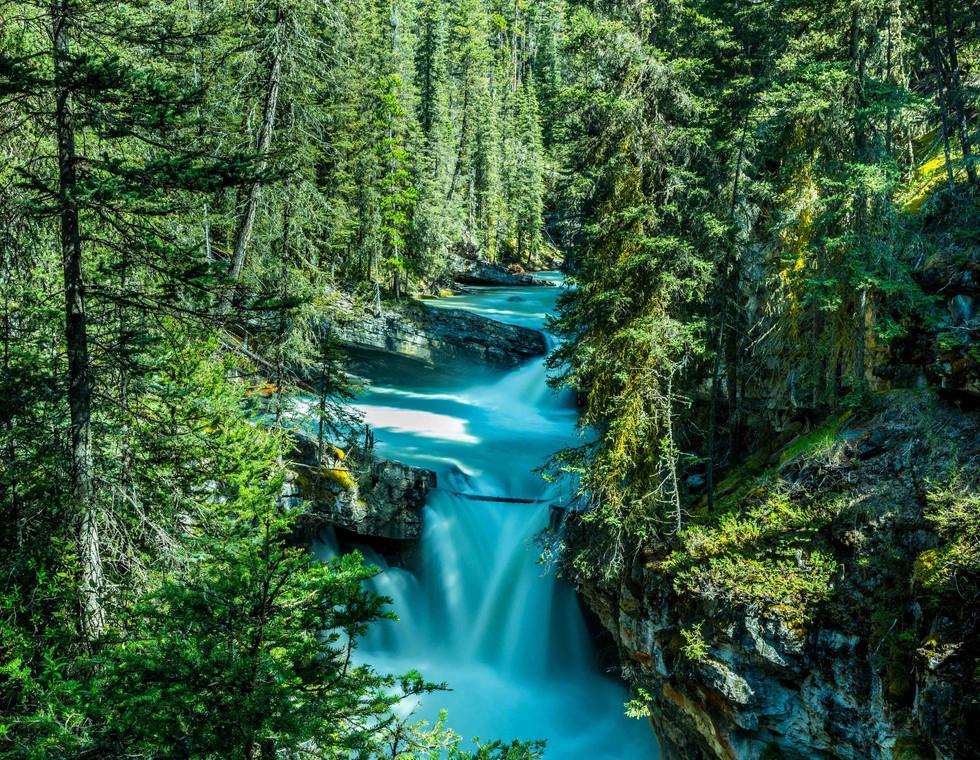 Calgary Landscape Photographer - Commercial prints - Johnston Canyon Alberta - Banff Waterfall