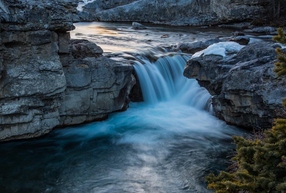 Calgary Landscape Photographer - Commercial prints - Elbow Falls Alberta Provincial Park - Waterfall Landscape photography