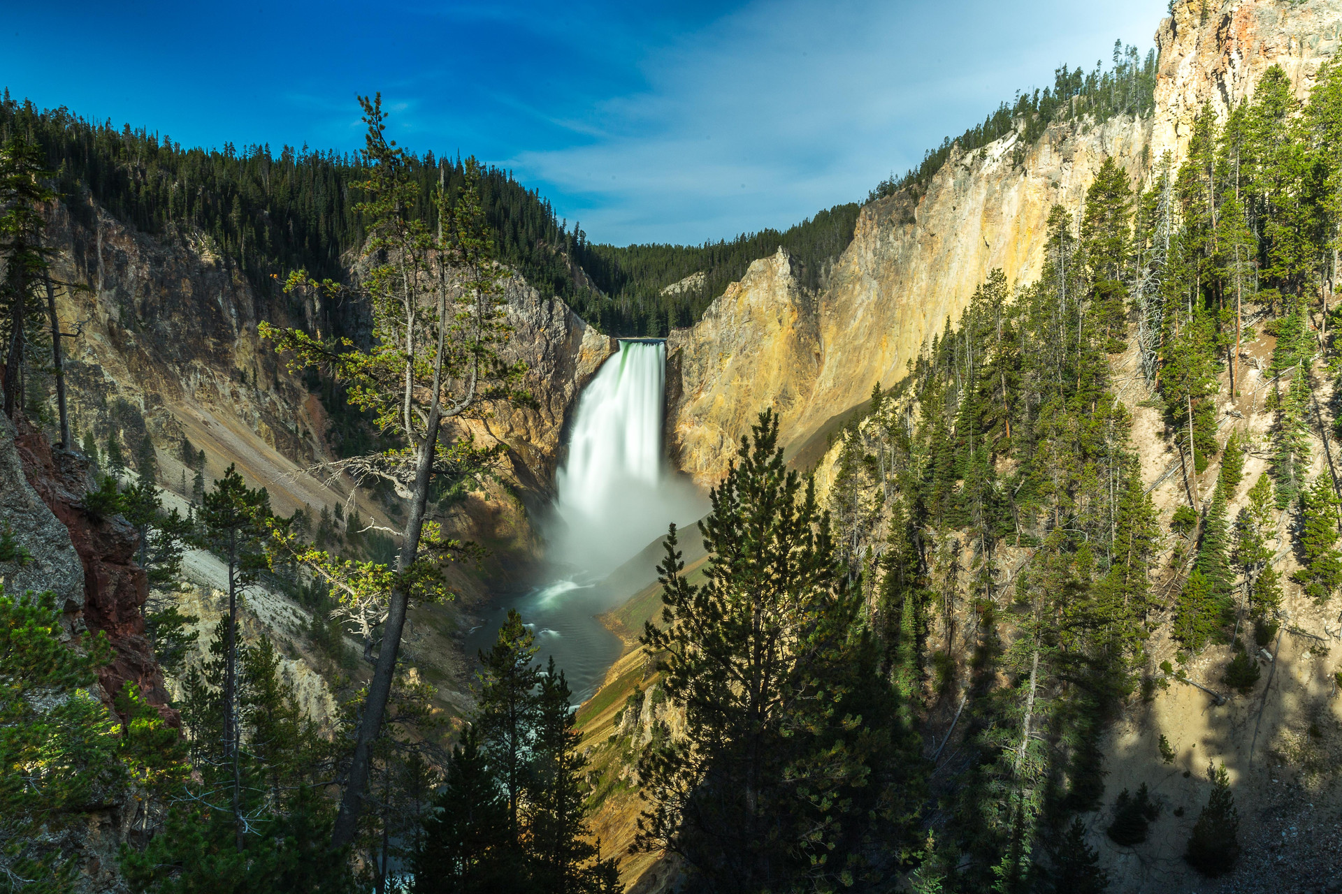 Calgary Landscape Photographer - Commercial prints - Yellowstone National Park - Waterfall Landscape photography