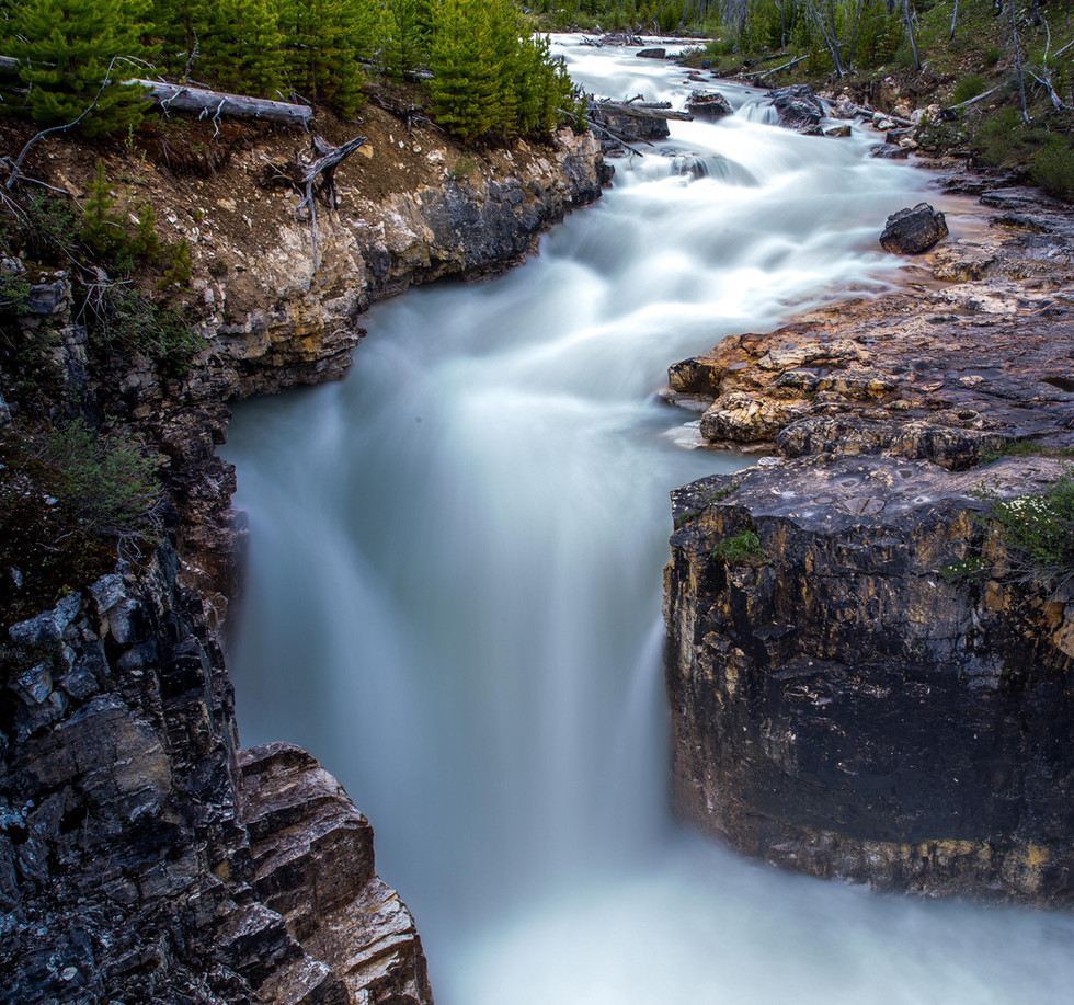 Calgary Landscape Photographer - Commercial prints - Marble Canyon British Columbia - Waterfall
