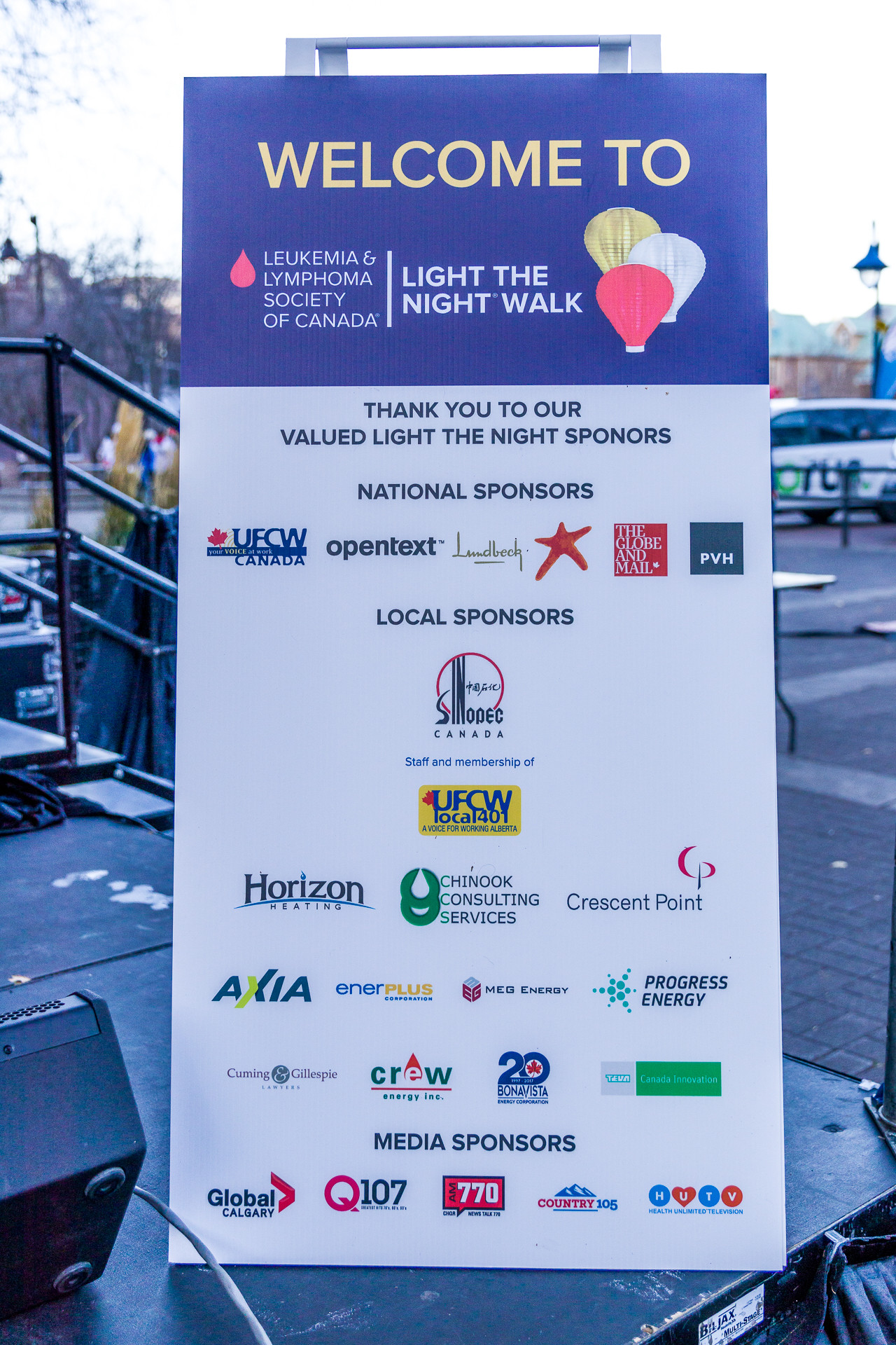 Calgary Photographer - Light the Night Event - Charity - Non Profit