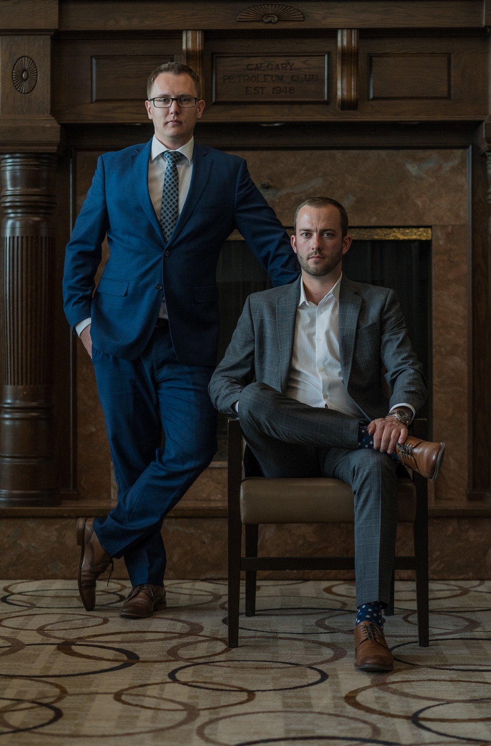 Corporate Business Headshot. Konstantin Kuligin and Mike Sheret