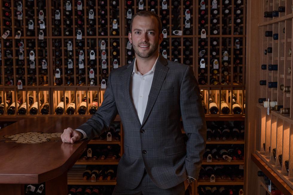 Corporate Headshot for Mike Sheret, Medium photograph Wine Cellar