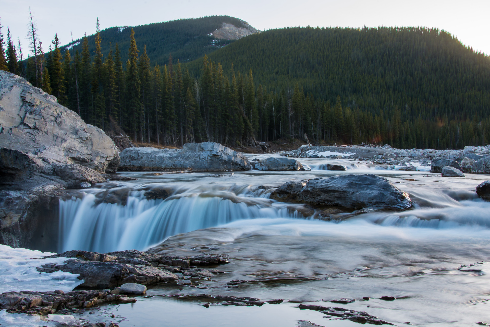 Calgary Landscape Photographer - Commercial prints - Elbow Falls Alberta Provincial Park - Waterfall Landscape photography