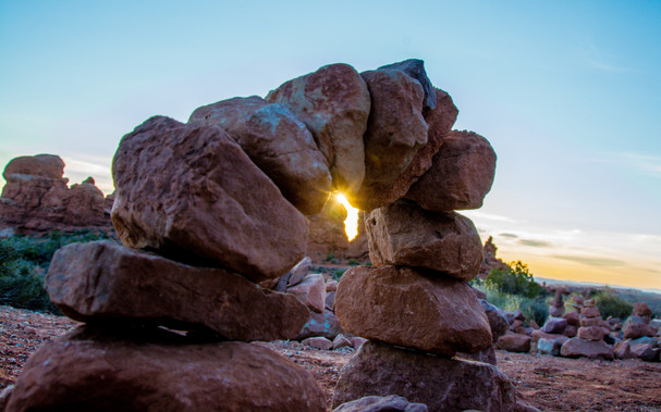 Cairn in Arches National Park
